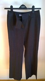Brown trousers with a wide pinstripe (Size 8- petite)