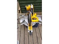 Dewalt dws780 lx double bevel sliding compound mitre saw 110v