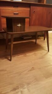 Mid Century Atomic Two-Tiered Side Table