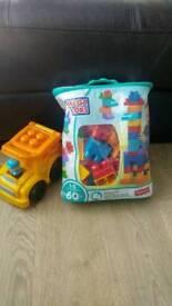 Mega blocks and car