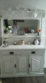 Beautiful Arts and Crafts Dresser With Mirror