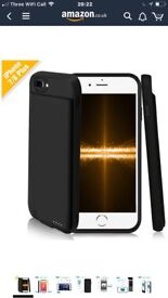 iPhone 7 Plus Battery Case Support iPhone 8 Plus Lightning Headphones and Answer Calls,