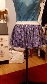 Beautiful handmade cotton mini skirt
