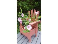 Shabby Chic Style Garden Planter complete with pot and plant