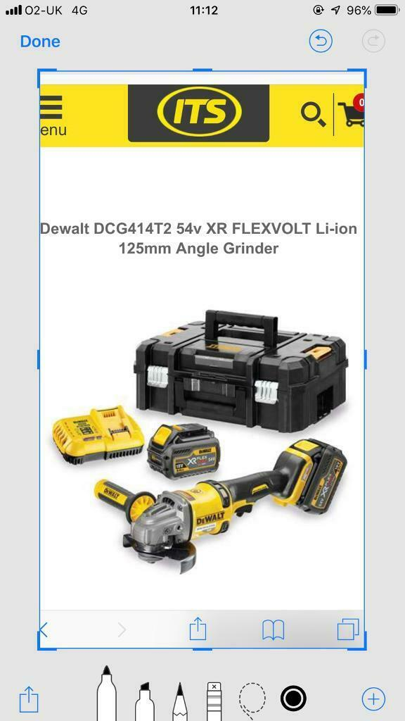 Dewalt FLEXvolt battery grinder | in Knightswood, Glasgow | Gumtree