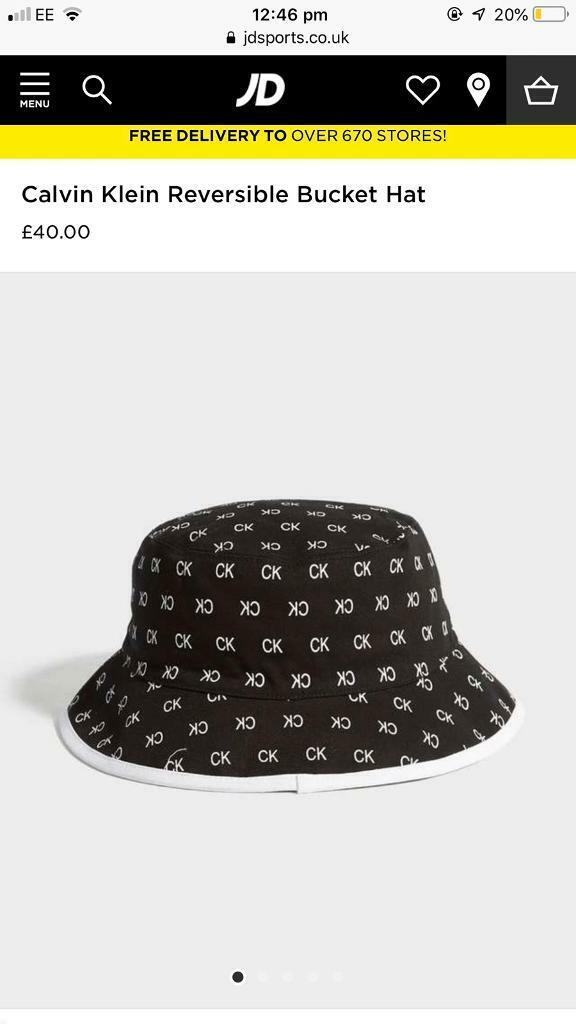 4110c6d4bd1ae Calvin Klein reversible bucket hat. Bacup, Lancashire. £30.00.  https://i.ebayimg.com/00/s/MTAyNFg1NzY= ...