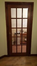 Mahogany doors. 3 for sale. Good nick. With handles.