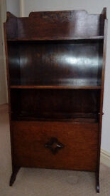 Dark Wooden Magazine Rack with Shelves in Great Condition