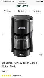 DeLonghi filter coffee maker NEW!