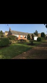 3 bedroomed bungalow to let in shotley bridge, detatched double garage gardens on all sides