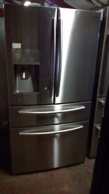 SAMSUNG RF24.... American fridge freezer, with water and ice dispenser.