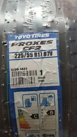 NEW Two Toyo Tires tyres - 225/55/ R17 - £120 ONO