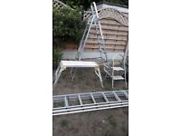 Set of 4 ladders and steps