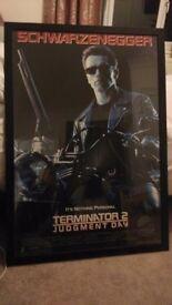 Terminator 2 judgement day framed film poster