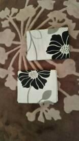 Cream/black poppy curtains