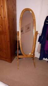 Pine cheval full size mirror