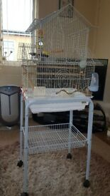 METAL BIRD CAGE EXCELLENT CONDITON MUST BE SEEN TO APPRECIATE FULL VERSATILITY OF CAGE