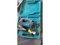 One of several 110v tools for sale. Makita Jigsaw 4340ct 720w Inc Carry Case Very light use. £40