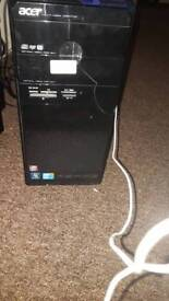 Acer Aspire M3870 with graphics card, monitor, keyboard and mouse Intel(R) Core(TM) i5 CPU 650