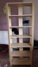 Pine effect bookcase disply unit