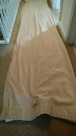 Unlined curtains, beige