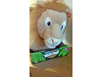 Roaring Lion Wall Head Interactive Soft Toy