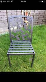 Metal framed garden chair