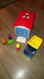 Playmobil 123 garage with truck shape sorter