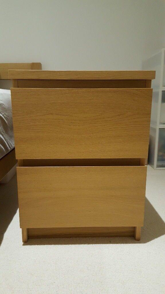 Ikea MALM bedside table (2 drawers)