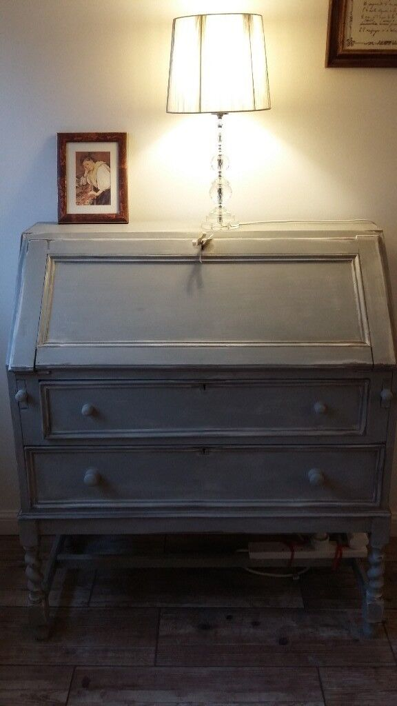 French Style Shabby Chic Writing Desk Bureau