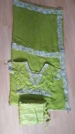 Pearl green asian saree