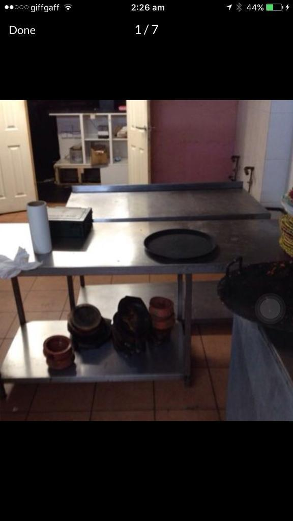 Stainless steel tables prep tablesin Withington, ManchesterGumtree - Prep tables for kitchen tables stainless steel prep table all very Gud condition all different size all must go