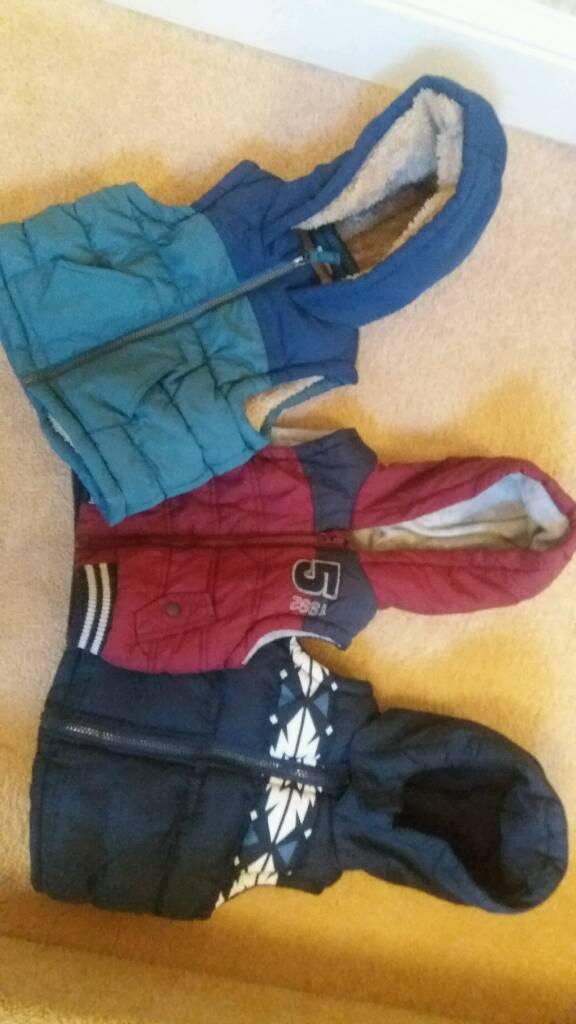 Boys Gillett coat hoodie ×3 bundle
