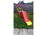 Quadro junior kids climbing frame with slide + wheels + mini model building set
