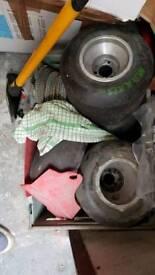 Go kart parts . Wheels .sprockets . Chains