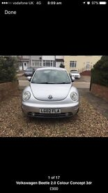 VW beetle 2lt great car full leather heated seats ! Cheep to run !
