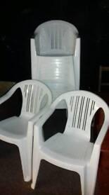 Chairs, stacking, Xwedding