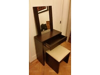 Solid oak dresser, stool and mirror - BARELY USED