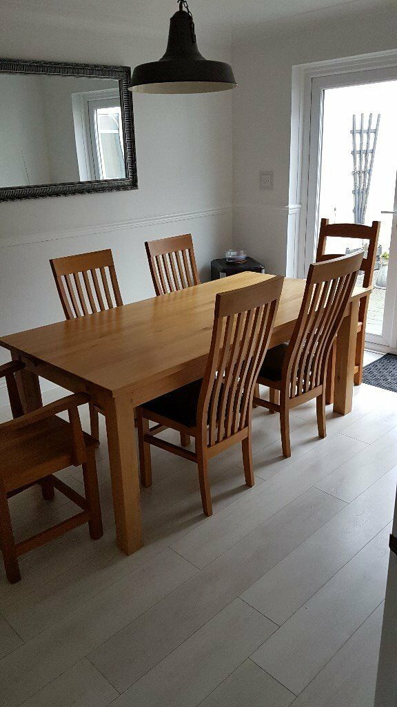 Swell 6 Oak Dining Room Chairs In New Milton Hampshire Gumtree Download Free Architecture Designs Embacsunscenecom