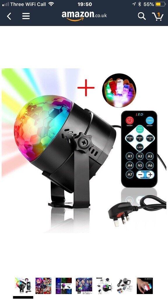 Mini LED Disco Lights, YANX 3W RGB Stage Light Rotating Strobe Light Sound