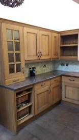 Cottage style kitchen units and work surfaces