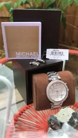Michael Kors MK5353 Women's Parker CHRONOGRAPH Watch, Silver RRP £279.00