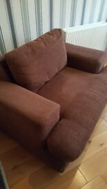 Large Brown Single Seat Sofa