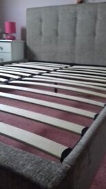 KIng size double bed and headboard