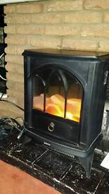 Electric free standing fire