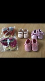 Selection of baby shoes