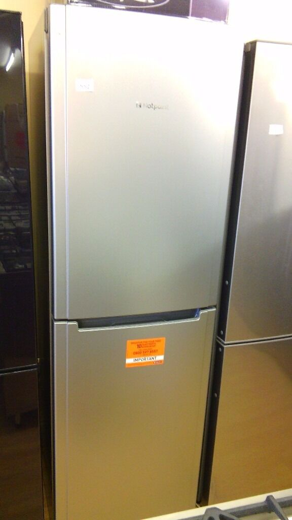 HOTPOINT silver Fridge Freezer slightly marked Ex display