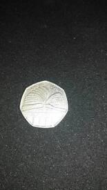 2000 public library 59p coin