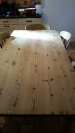 Lovely Oak Dining table and four chairs