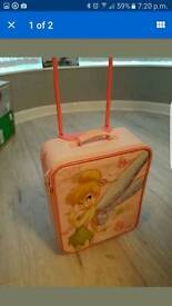 Childs tinker bell suit case